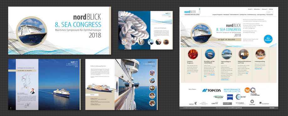 nordBLICK SEA CONGRESS 2018 Komplettausstattung Print / Layouts & RZ, Webdesign